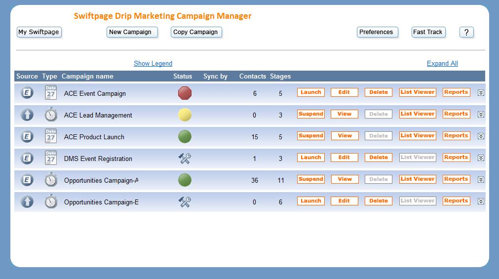Swiftpage Emarketing Swiftpage Emarketing - Drip campaign template