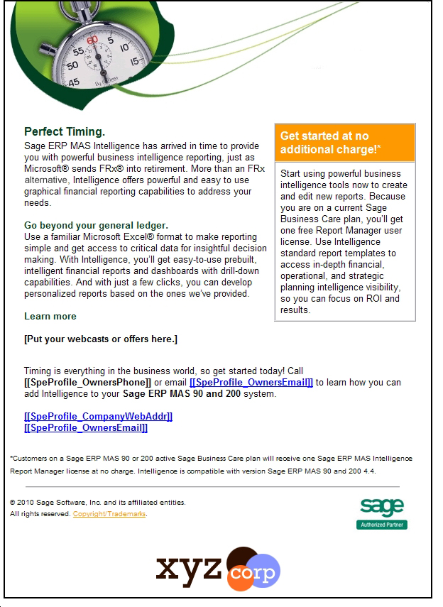 Sage Partner Program | Swiftpage emarketing